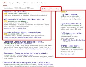 Enlaces patrocinados de google - Posicionamiento SEM